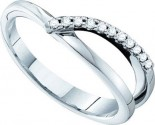 Ladies Diamond Band 14K White Gold 0.10 cts. GD-29623