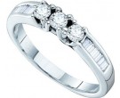 Ladies Diamond Band 14K White Gold 0.50 cts. GD-30296