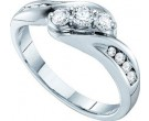 Ladies Diamond Band 14K White Gold 0.50 cts. GD-30300