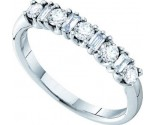 Ladies Diamond Band 14K White Gold 0.54 cts. GD-30305