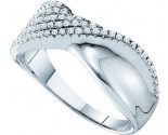 Diamond Cocktail Band 14K White Gold 0.39 cts. GD-40087