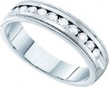 Ladies Diamond Band 14K White Gold 0.50 cts. GD-40731