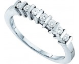 Ladies Diamond Band 10K White Gold 0.22 cts. GD-46145