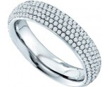 Ladies Diamond Band 14K White Gold 0.76 cts. GD-47670
