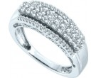 Ladies Diamond Band 14K White Gold 0.58 cts. GD-48106
