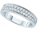 Ladies Diamond Band 14K White Gold 0.46 cts. GD-48415