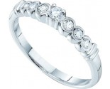 Ladies Diamond Band 14K White Gold 0.25 cts. GD-48456