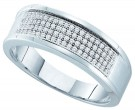 Diamond Band 10K White Gold 0.25 cts. GD-49974