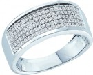 Ladies Diamond Band 10K White Gold 0.30 cts. GD-49976
