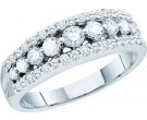 Ladies Diamond Band 14K White Gold 0.75 cts. GD-52320