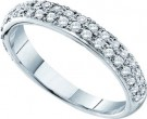 Ladies Diamond Band 14K White Gold 0.41 cts. GD-53232