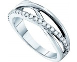 Ladies Diamond Band 14K White Gold 0.26 cts. GD-53759