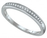 Ladies Diamond Band 10K White Gold 0.05 cts. GD-64548