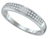 Ladies Diamond Band 10K White Gold 0.10 cts. GD-64549