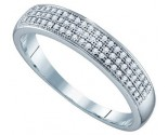 Diamond Band 10K White Gold 0.20 cts. GD-64564