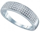 Ladies Diamond Band 10K White Gold 0.25 cts. GD-64565