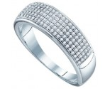 Diamond Band 10K White Gold 0.33 cts. GD-64568