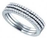 Ladies Diamond Band 10K White Gold 0.28 cts. GD-70944