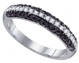 Black Diamond Band 10K White Gold 0.50 cts. GD-72323