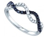 Black Diamond Band 10K White Gold 0.49 cts. GD-72335