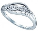 Ladies Diamond Band 10K White Gold 0.04 cts. GD-73986