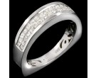 Diamond Band 14K White Gold 0.79 cts. 8R902B