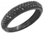 Ladies Diamond Band 14K Gold Black Rhodium KCR2763A