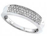 Ladies Diamond Band 14K White Gold 0.30 cts. S12-2