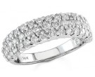 Ladies Diamond Band 14K White Gold 1.00 cts. S12-6
