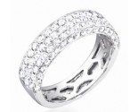 Ladies Diamond Band 14K White Gold 1.30 cts. S27-1