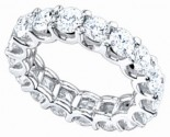 Ladies Diamond Eternity Band 14K White Gold 4 cts. DEB-4CT