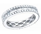 Ladies Diamond Eternity Band 18K White Gold 1.50 cts. S51-6