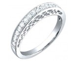 Ladies Diamond Band 18K White Gold 0.35 cts. S52-15