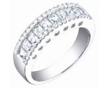 Ladies Diamond Band 14K White Gold 1.10 cts. S54-10