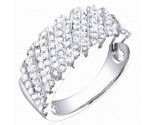 Ladies Diamond Band 14K White Gold 0.95 cts. S54-11