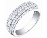 Ladies Diamond Band 14K White Gold 1.05 cts. S54-12