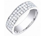 Ladies Diamond Band 14K White Gold 0.85 cts. S54-13