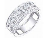 Ladies Diamond Band 14K White Gold 0.80 cts. S54-14