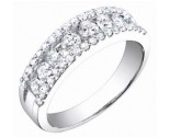 Ladies Diamond Band 14K White Gold 1.00 cts. S54-4