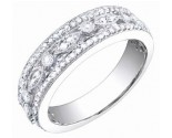Ladies Diamond Band 14K White Gold 0.50 cts. S54-5