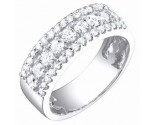 Ladies Diamond Band 14K White Gold 1.00 cts. S54-6