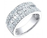 Ladies Diamond Band 14K White Gold 1.45 cts. S54-8