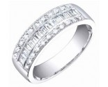 Ladies Diamond Band 14K White Gold 0.60 cts. S54-9