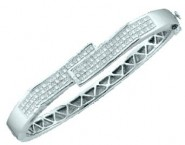 Ladies Diamond Bangle 14K White Gold 2.00 ct. GD-15093