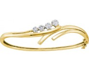 Ladies Diamond Bangle 14K Yellow Gold 0.50 cts. GD-39447