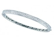 Ladies Diamond Bangle 14K White Gold 1.50 cts. GD-52919