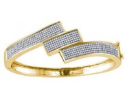 Ladies Diamond Bangle 10K Yellow Gold 1.32 cts. GD-63242