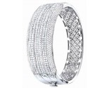 Diamond Bangle 14K White Gold 11.00 cts. S40-1