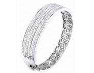 Diamond Bangle 14K White Gold 7.90 cts. S40-2