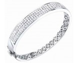 Diamond Bangle 14K White Gold 5.80 cts. S40-3